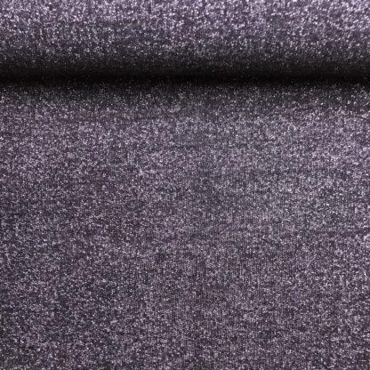 Bild Sweat, Wintersweat, warm, kuschelig, angeraut, schwarz, silbernem Glitzer, Glitter, leicht dehnbar