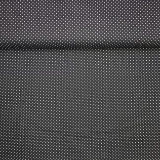 Bild Webware, Baumwolle, Popelin, Stoff für Kleid, Stoff für Rock, Stoff für Bluse, Stoff für Masken, Hobby, schwarz, weiße Punkte
