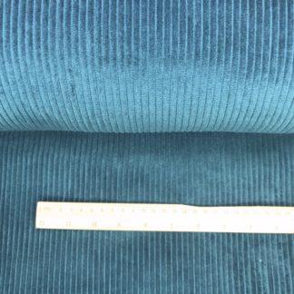 Bild Breitcord Stoff in dunkeltürkis, dunkelblau, Baumwollcord, Hosenstoff, Mantelstoff, Jackenstoff, Rockstoff