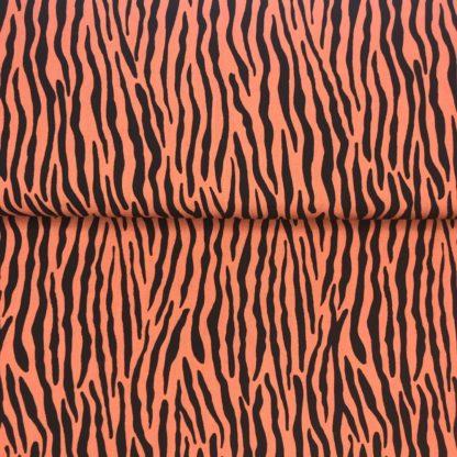 Bild Blusenstoff Viskose- Radiance Zebraoptik braun Schwarz