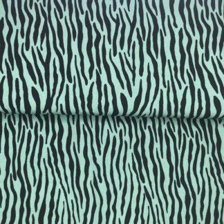 Bild Blusenstoff Viskose- Radiance Zebraoptik grün/petrol Schwarz