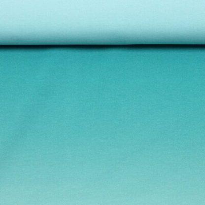 Bild Sommersweat, French Terry Farbverlaufstoff grün türkis