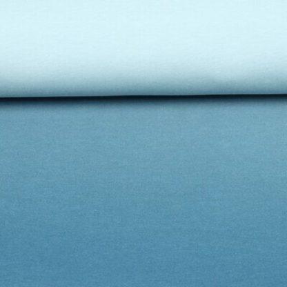 Bild Sommersweat, French Terry Farbverlaufstoff blau grau