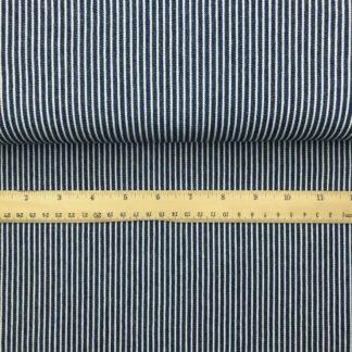 Bild Jeans in blau weiß Nadelstreifen
