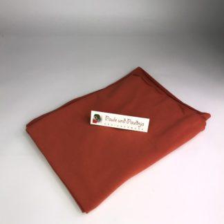 Bild Baumwolljersey Uni-Farben Rost, Kupfer