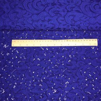 Bild dehnbare elastische Spitze Farbe blau, royalblau